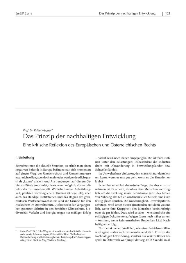 EurUP - Zeitschrift für Europäisches Umwelt- und Planungsrecht: Das ...